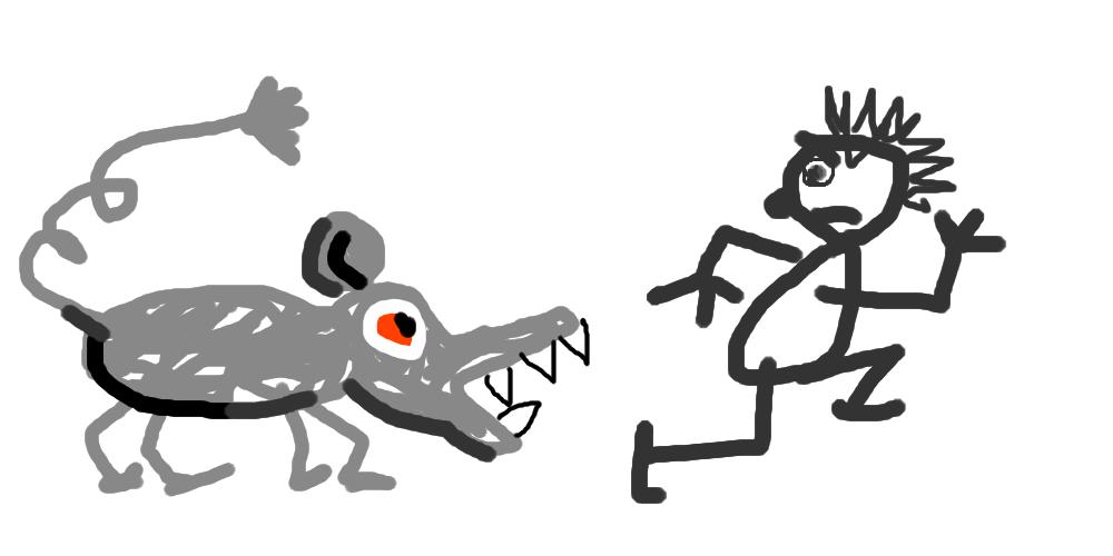 Поедание писателей мышью